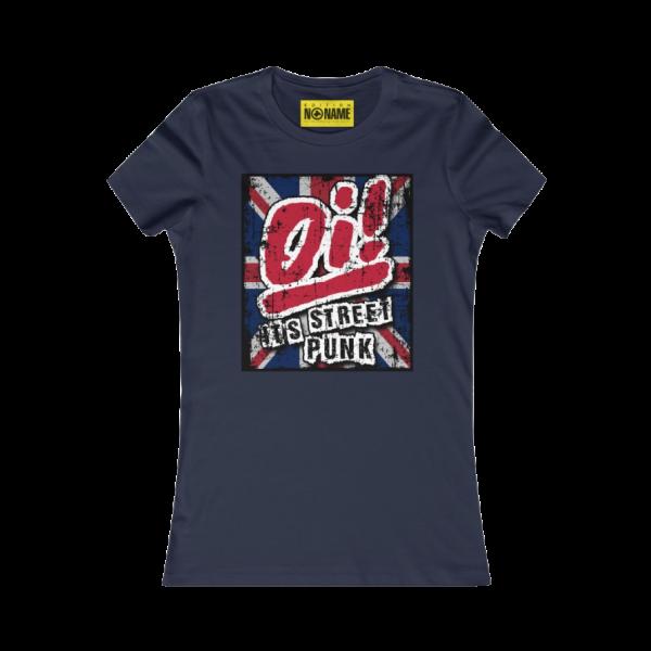 "T-Shirt slim, schwarz ""Oi! It's Streetpunk"" (Damen) -PoD-"