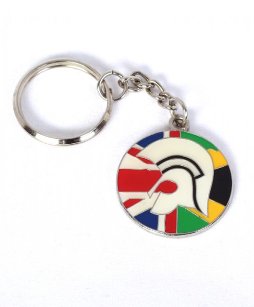"Schlüsselanhänger ""Trojaner-Helm Flagge UK-JAM"" (Metall)"