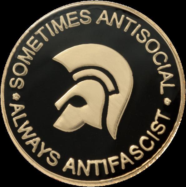 Metallanstecker sometimes antisocial - always antifascist