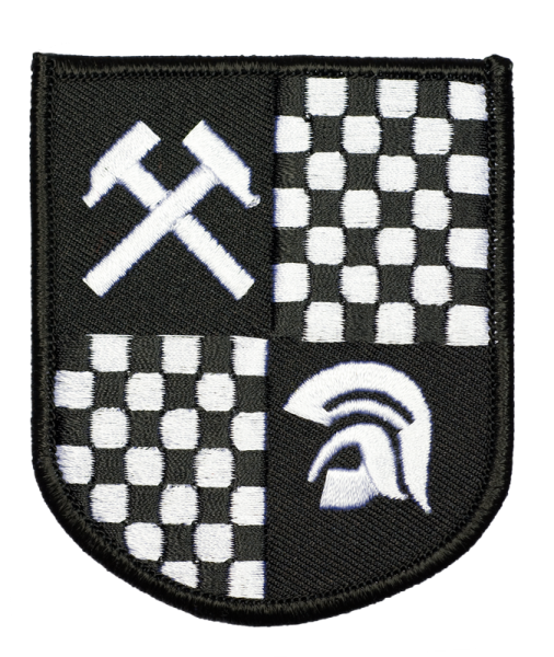 gestickter Aufnäher mit Kettelrand und Bügelfolie Wappen Trojan/ Working Class