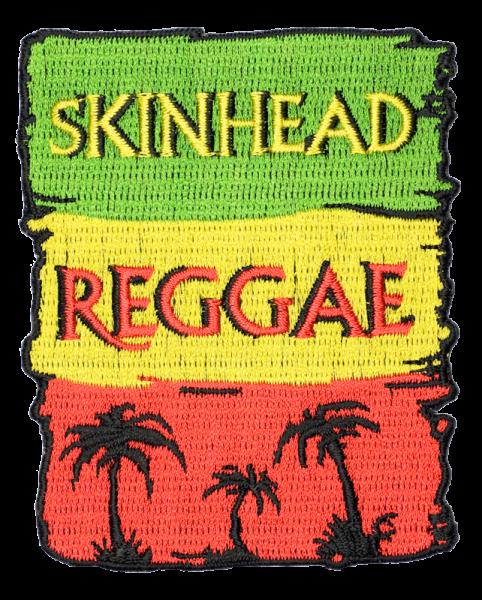 gestickter Aufnäher konturgeschnitten mit Bügelfolie Flag - Skinhead Reggae