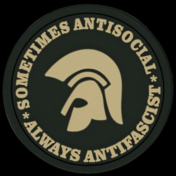 Kühlschrankmagnet  sometimes antisocial - always antifascist