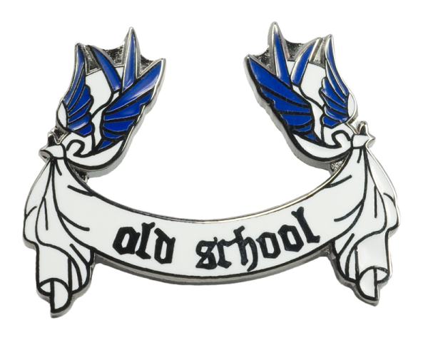 Metallanstecker Old School Swallows