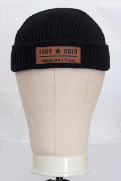 Strickmütze/ Beanie mit Laseretikett 50 years subculture's finest - Skinhead 1969-2019