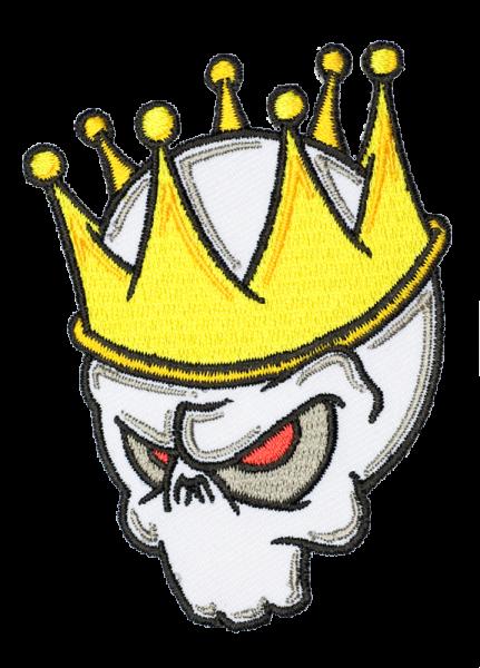gestickter Aufnäher konturgeschnitten mit Bügelfolie King'n'Frank