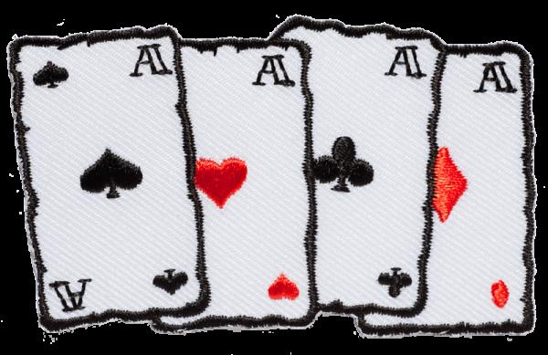 gestickter Aufnäher konturgeschnitten mit Bügelfolie Cards