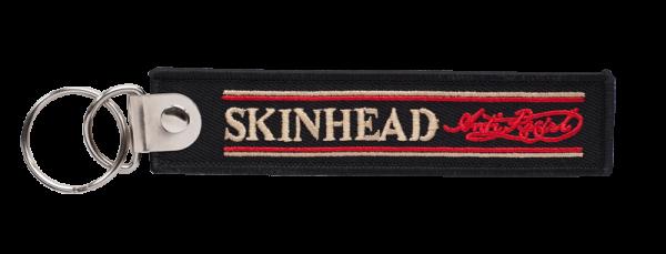 gestickter Schlüsselanhänger Skinhead - Anti Racist