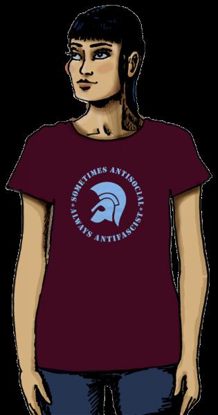 "T-Shirt ""Trojaner-Helm – Sometimes..."" (Damen)"