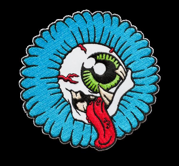 gestickter Aufnäher konturgeschnitten mit Bügelfolie Sunflowereye