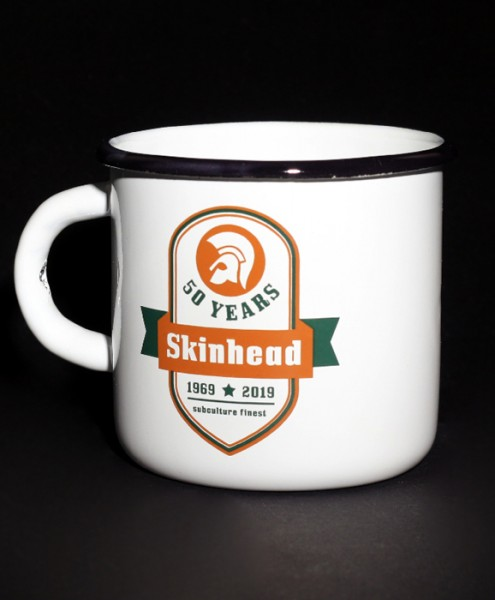 """Emaille-Becher """"Skinhead – 50 Years"""""""