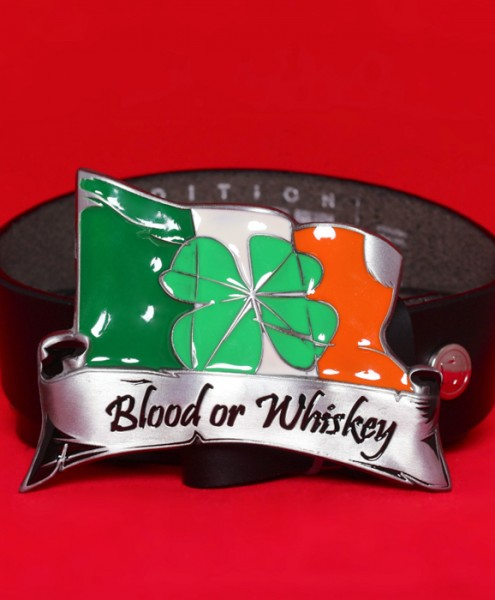 "Gürtelschließe ""Blood or Whiskey"""