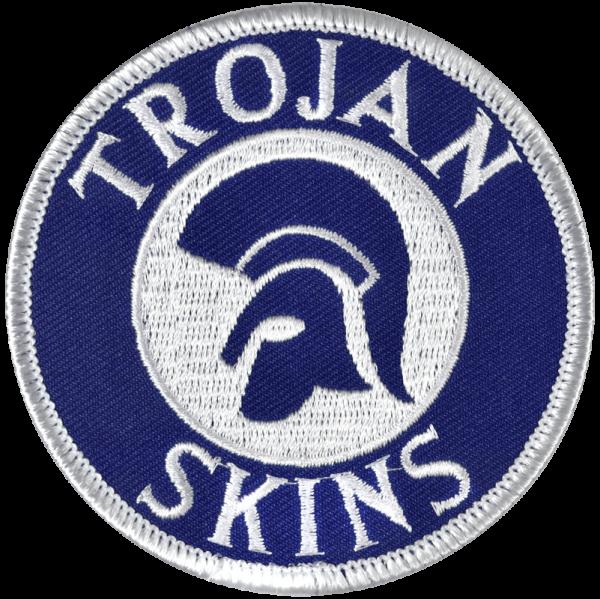 gestickter Aufnäher mit Kettelrand und Bügelfolie Trojan Skins