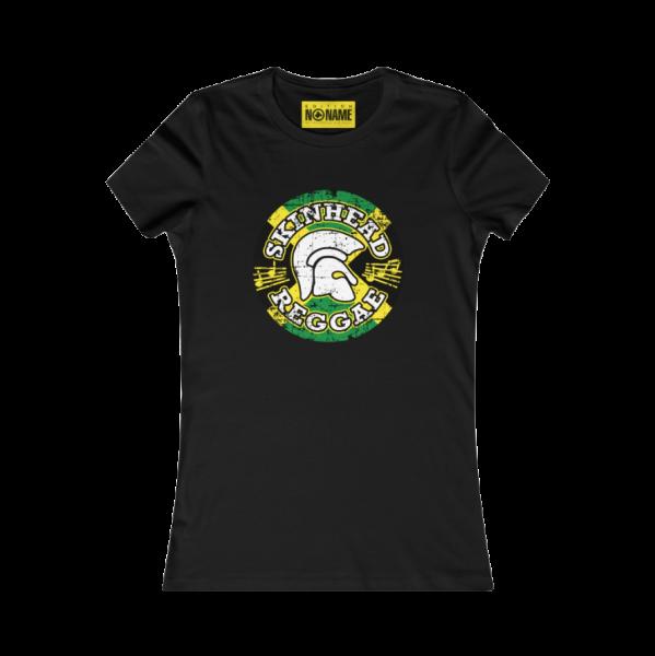 """T-Shirt slim, schwarz """"Skinhead Reggae Emblem"""" (Damen) -PoD-"""