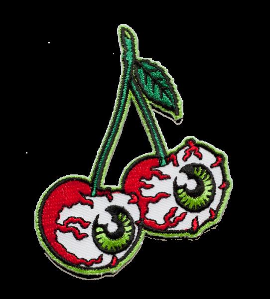 gestickter Aufnäher konturgeschnitten mit Bügelfolie Cherryeyes