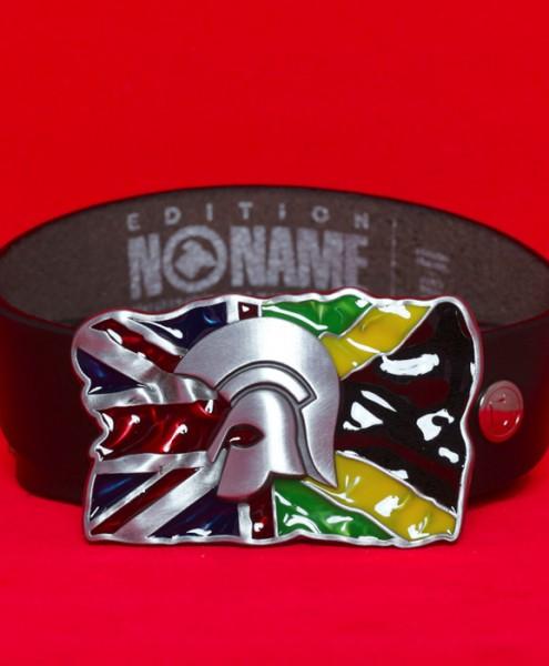 "Gürtelschließe ""Trojaner-Helm Flagge UK-JAM"""