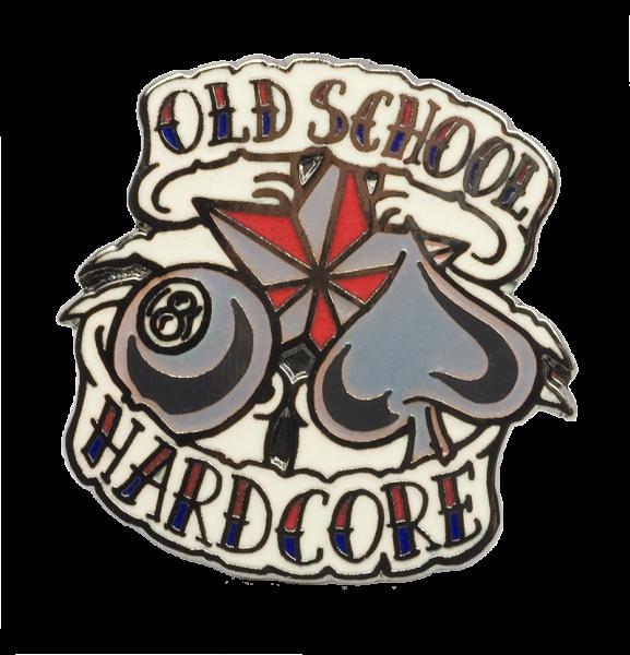 Metallanstecker Old School Hardcore